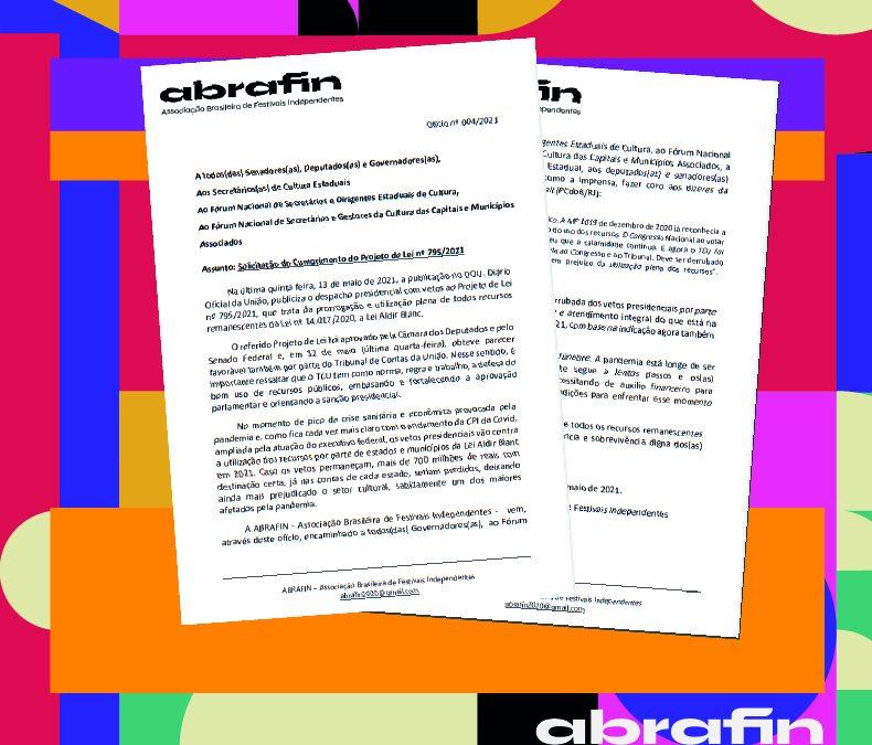 ABRAFIN encaminha nota a parlamentares e gestores sobre os vetos de Bolsonaro ao PL nº 795/2021