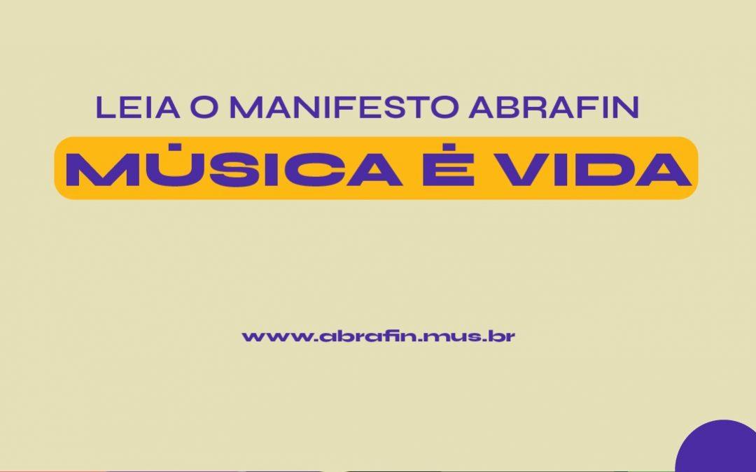 ABRAFIN lança Manifesto Música é vida pela retomada dos festivais